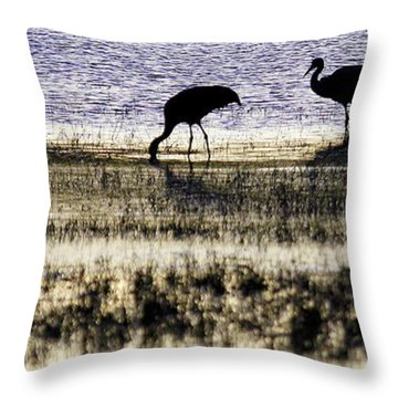 Evening Silhouette Throw Pillow