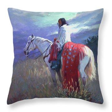 Evening Solitude L. E. P. Throw Pillow
