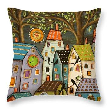 Evening Song Throw Pillow