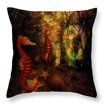 Evening Stroll Throw Pillow by Mimulux patricia no No