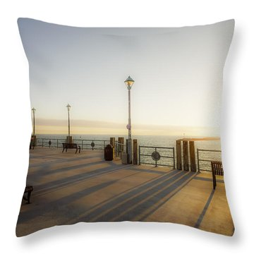 Throw Pillow featuring the photograph Evening Sun by Michael Hope
