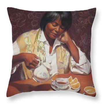 Evening Tea Throw Pillow