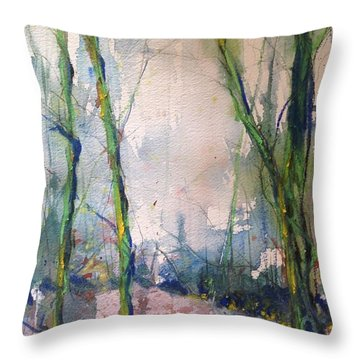 Evening Trees Throw Pillow by Robin Miller-Bookhout