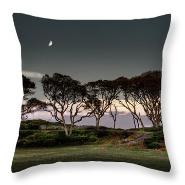 Dusk At Fort Fisher Throw Pillow by Phil Mancuso