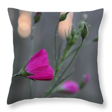 Evening Winecup Throw Pillow