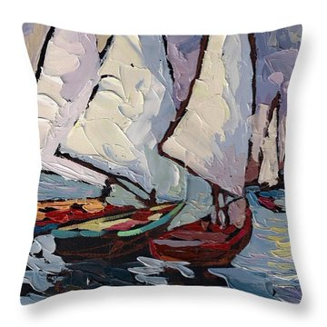 Evening Throw Pillow by Yuliya Podlinnova