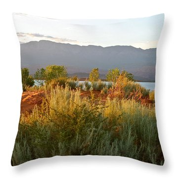 Evenings Light On The Red Sands Throw Pillow