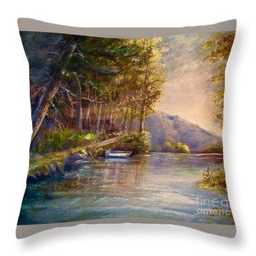 Evening's Twilight Throw Pillow by Patricia Schneider Mitchell