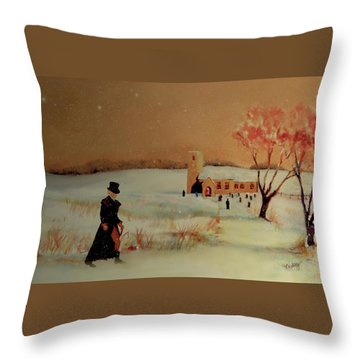 Throw Pillow featuring the painting Evensong by Valerie Anne Kelly