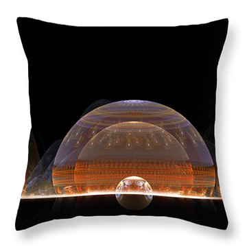 Throw Pillow featuring the digital art Event Horizon by Richard Ortolano