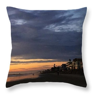 Eventide, Oceanside, California Throw Pillow by Jan Cipolla