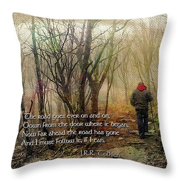 Throw Pillow featuring the photograph Ever On And On... by Jessica Brawley