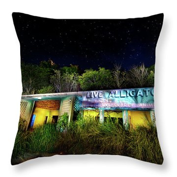 Everglades Gatorland Throw Pillow