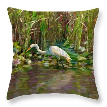 Everglades Hunter Throw Pillow