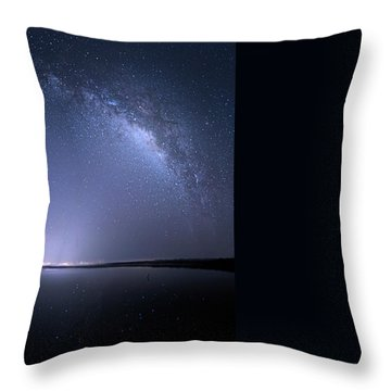 Throw Pillow featuring the photograph Everglades National Park Milky Way by Mark Andrew Thomas