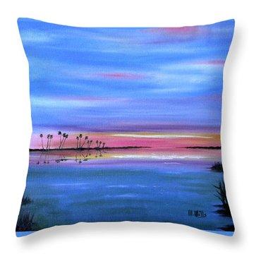 Everglades Sunset Throw Pillow