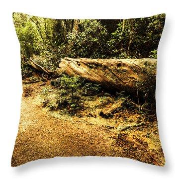Evergreen Jungle Trails Throw Pillow