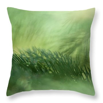 Evergreen Mist Throw Pillow