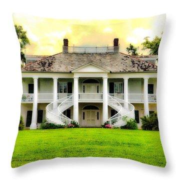 Evergreen Plantation Throw Pillow