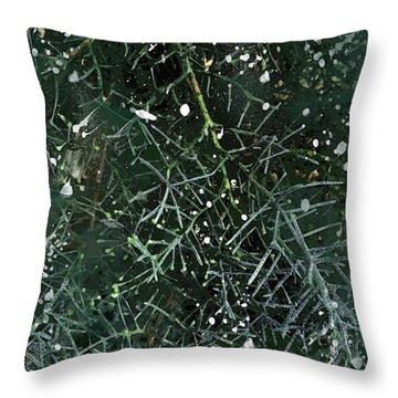 Evergreen Snow Throw Pillow