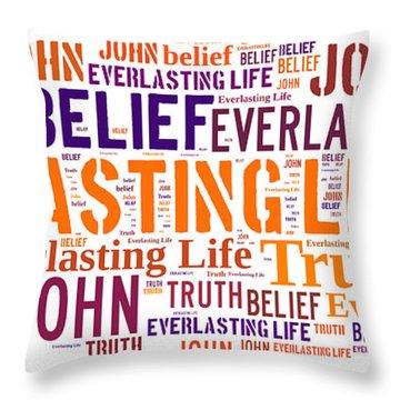 Everlasting Life Throw Pillow by Allen Beilschmidt