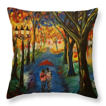 Everlasting Love Throw Pillow by Leslie Allen