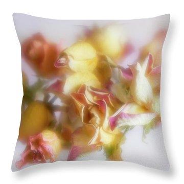 Everlasting Rose Buds Throw Pillow
