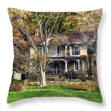 Every Blossom Falls Throw Pillow