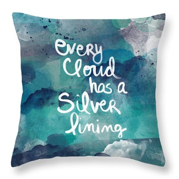 Every Cloud Throw Pillow by Linda Woods