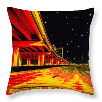 Throw Pillow featuring the digital art Are We There Yet by Wendy J St Christopher