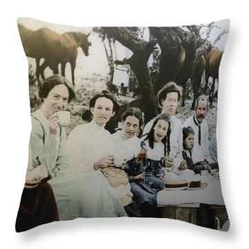 Throw Pillow featuring the photograph Every Day Life In Nation In Making by Miroslava Jurcik