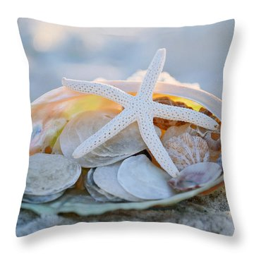 Every Grain Of Sand Throw Pillow by Melanie Moraga