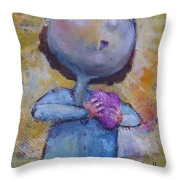 Every Morning Throw Pillow by Eleatta Diver