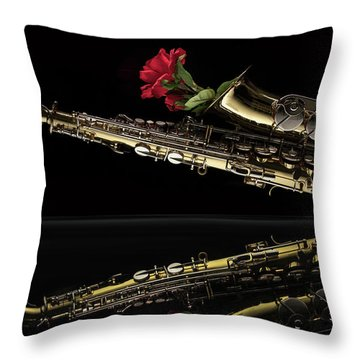 Every Rose Has Its Horn Throw Pillow