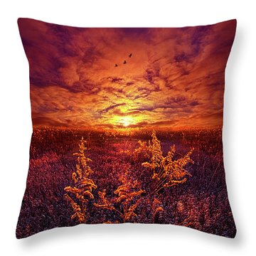 Throw Pillow featuring the photograph Every Sound Returns To Silence by Phil Koch