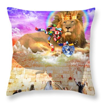 Every Tribe Every Nation Throw Pillow by Dolores Develde