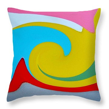 Throw Pillow featuring the digital art Everybody Has A Cousin In Miami Two by Dick Sauer