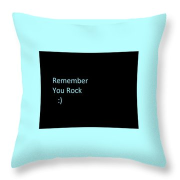 Throw Pillow featuring the photograph Everyday Remember This by Aaron Martens