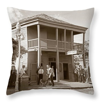 Throw Pillow featuring the photograph Everyone Says Hi - From Pepes Cafe Key West Florida by John Stephens