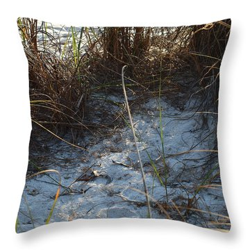 Throw Pillow featuring the photograph Everything Grows In The Sand by Robert Margetts