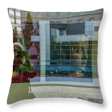 Throw Pillow featuring the photograph Everything Is Inside Out by Louise Lindsay