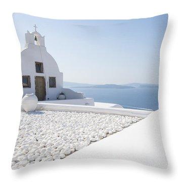 Everything Is White Throw Pillow