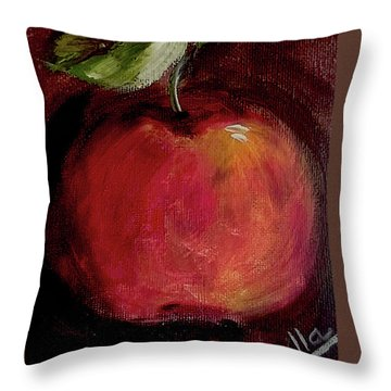 Throw Pillow featuring the painting Eve's Apple.. by Jolanta Anna Karolska