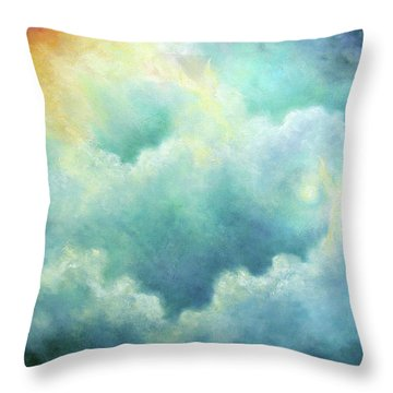 Evidence Of Angels Throw Pillow by Marina Petro
