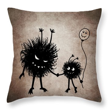Evil Bug Mother And Child Throw Pillow