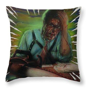 Evil Debt Throw Pillow