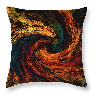 Throw Pillow featuring the digital art Collision Of Evil Forces by Merton Allen