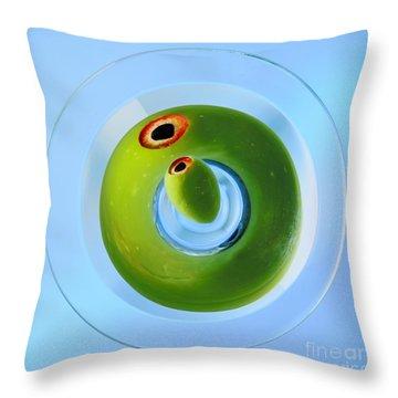 Olive Eye Throw Pillow