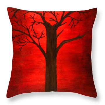 Evil Tree Throw Pillow