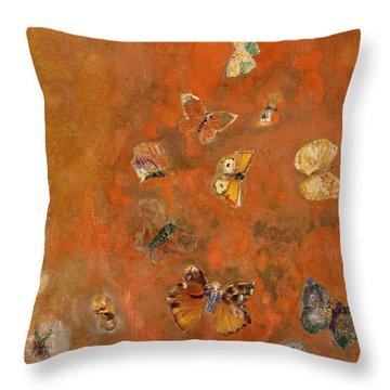 Evocation Of Butterflies Throw Pillow